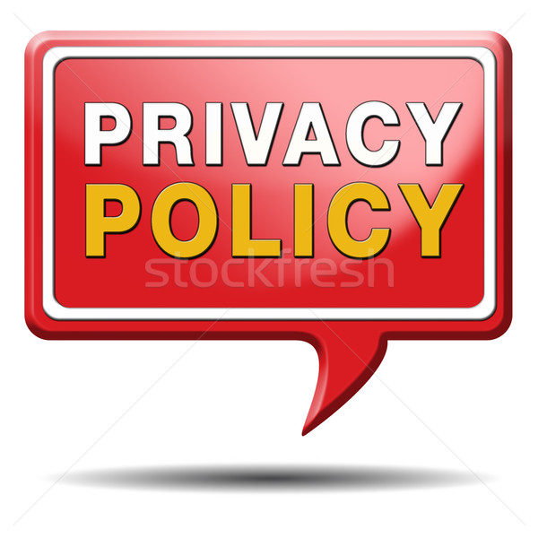 privacy policy red text balloon Stock photo © kikkerdirk