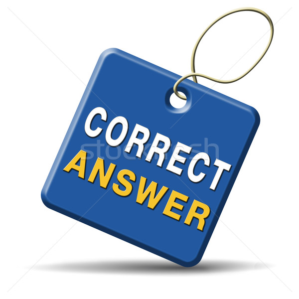 Correggere rispondere scelta successo pulsante Foto d'archivio © kikkerdirk