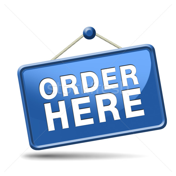 order here sign Stock photo © kikkerdirk