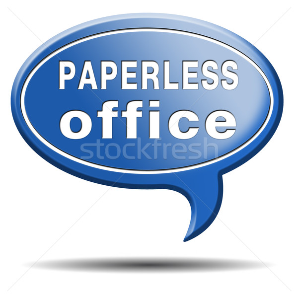 paperless office Stock photo © kikkerdirk