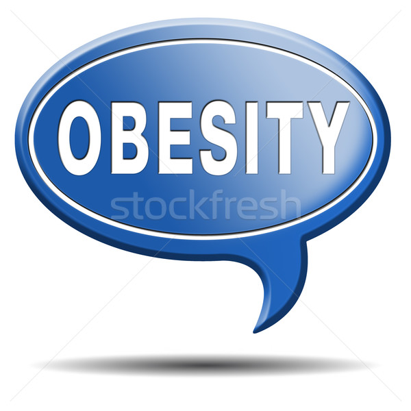 Fettleibigkeit Vorbeugung stoppen Gewicht starten Kampagne Stock foto © kikkerdirk