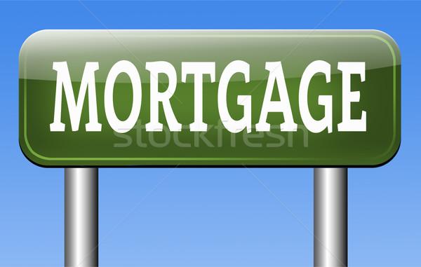 Hypothèque maison prêt payer argent Retour Photo stock © kikkerdirk