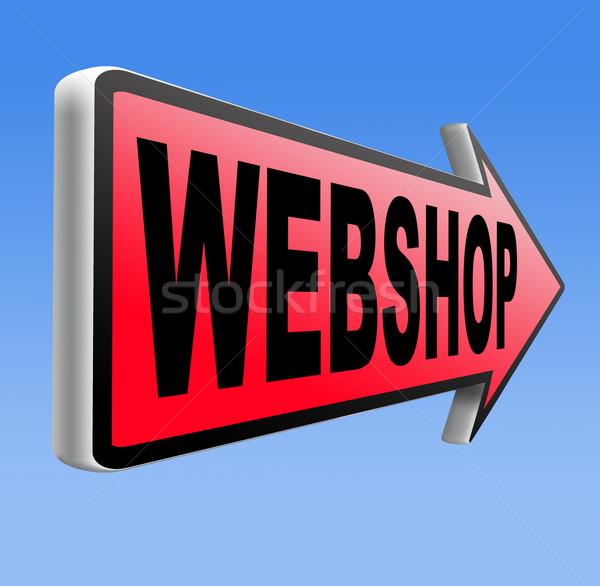 Webshop web winkel online winkelen internet store Stockfoto © kikkerdirk