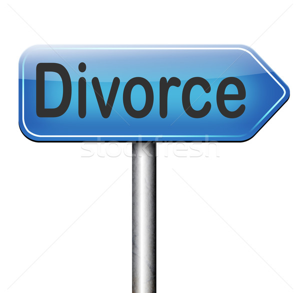 divorce Stock photo © kikkerdirk