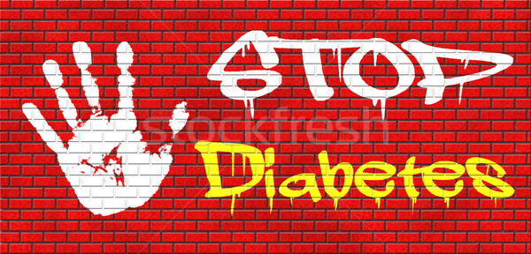 Arrêter diabète manger moins sucre régime alimentaire Photo stock © kikkerdirk