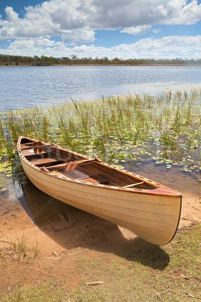 canoe in tropical paradise experience freedom Stock photo © kikkerdirk