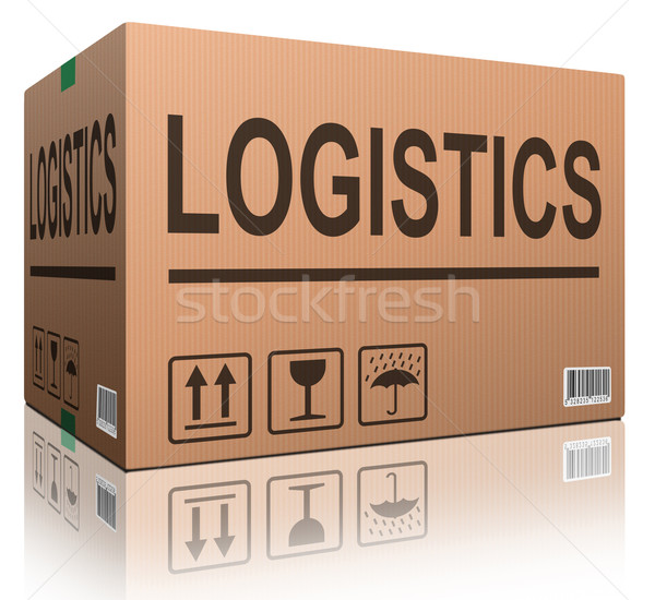 logistics carboard box Stock photo © kikkerdirk