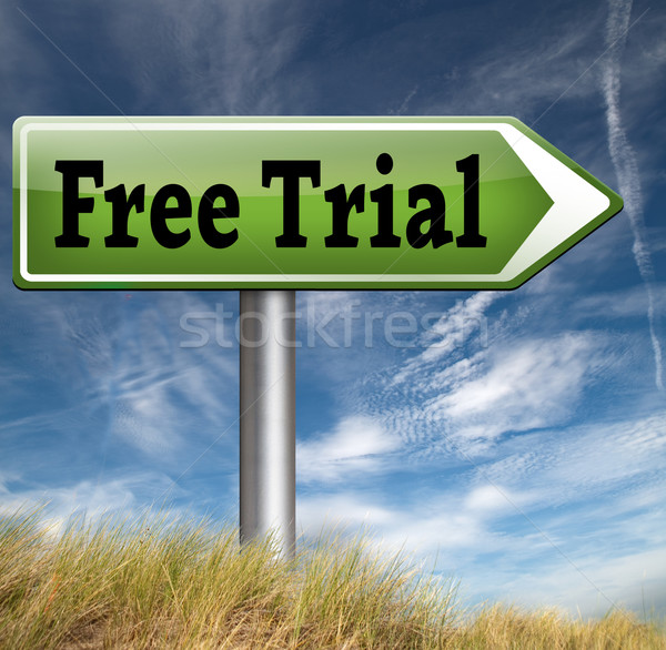 free product trial Stock photo © kikkerdirk