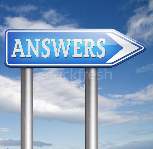 Trovare risposte ricerca risolvere problemi rispondere Foto d'archivio © kikkerdirk