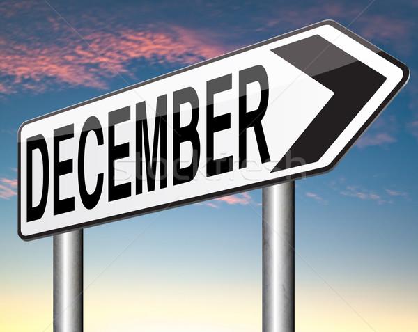 12月 最後 月 年 冬季 イベント ストックフォト © kikkerdirk
