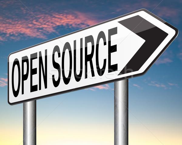 Açmak kaynak program yazılım ekonomi Internet Stok fotoğraf © kikkerdirk