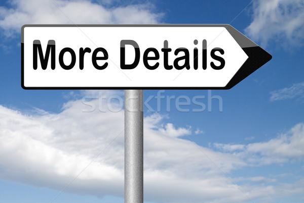 Több részletek talál extra információ jel online Stock fotó © kikkerdirk