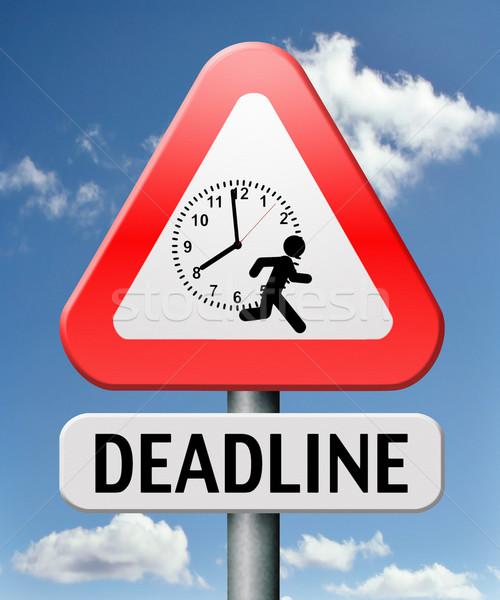 deadline Stock photo © kikkerdirk