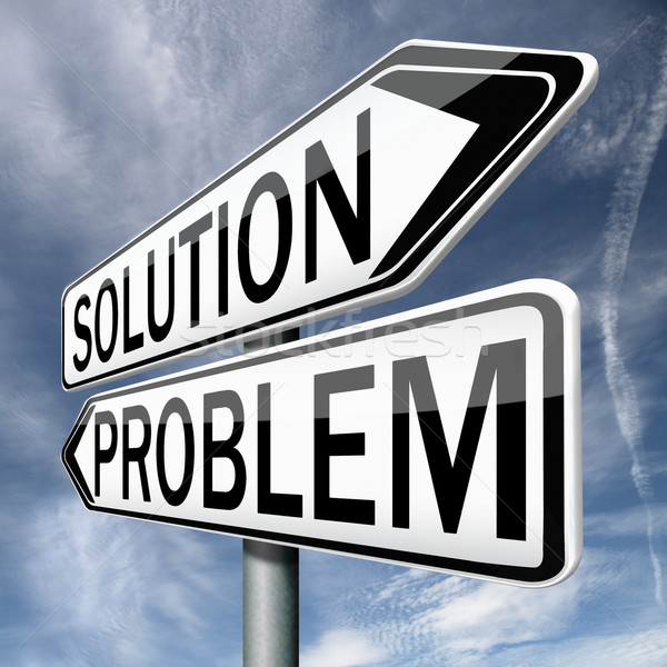 solution problem Stock photo © kikkerdirk