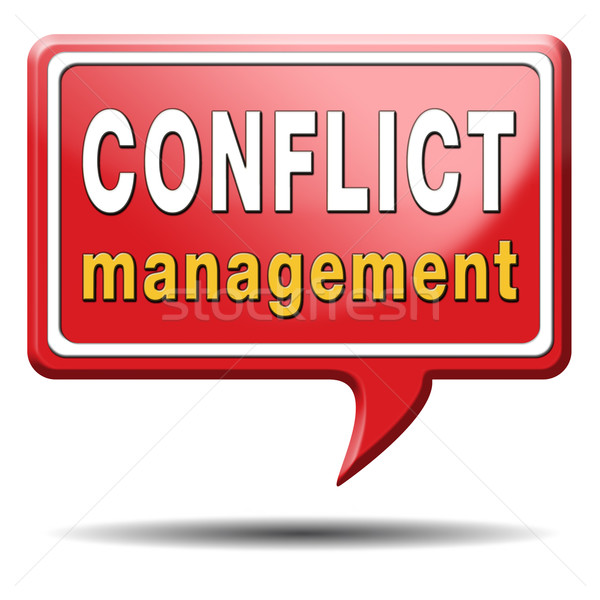 conflict management Stock photo © kikkerdirk