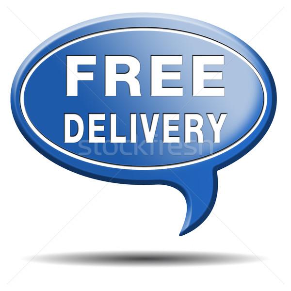 Ingyenes szállítás csomag szállítás internet háló bolt Stock fotó © kikkerdirk