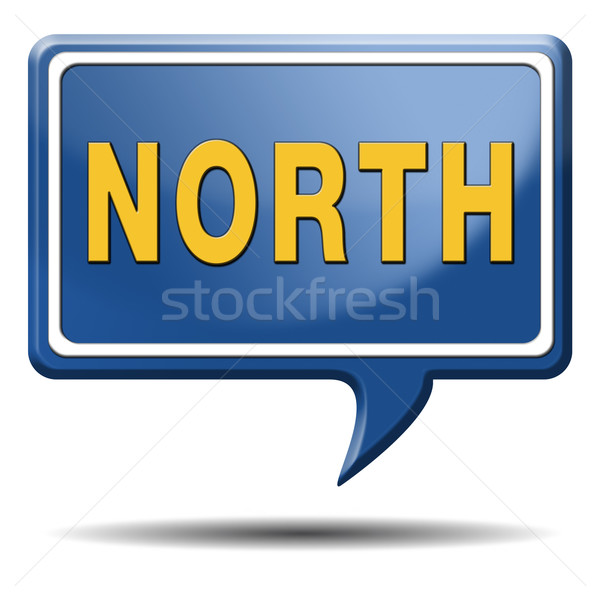 north icon Stock photo © kikkerdirk