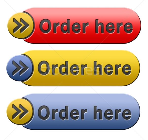 Ordre ici bouton maintenant ligne internet Photo stock © kikkerdirk
