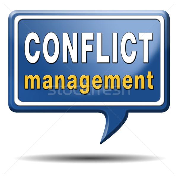 конфликт управления бизнеса работу пару различный Сток-фото © kikkerdirk
