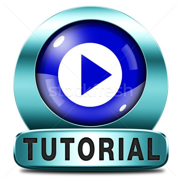 Tutorial ikon tanul online videó lecke Stock fotó © kikkerdirk