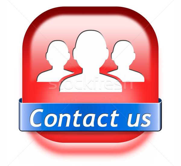 contact us button Stock photo © kikkerdirk