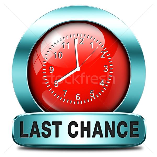 Utolsó esély végső alkalom hívás most Stock fotó © kikkerdirk