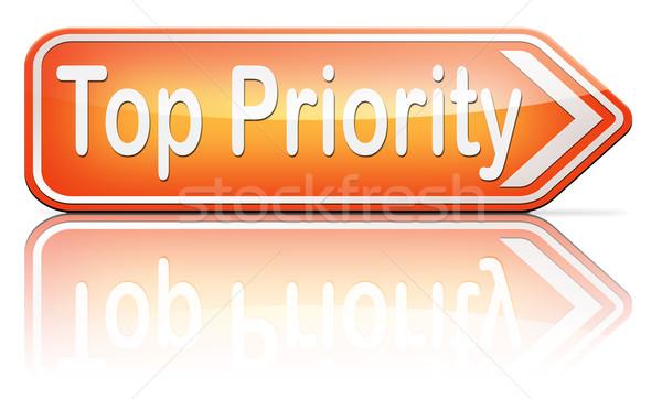 Górę priorytet ważny wysoki pilność info Zdjęcia stock © kikkerdirk