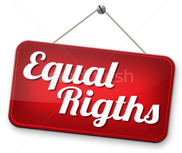 Igual direitos mulheres homem inválido Foto stock © kikkerdirk