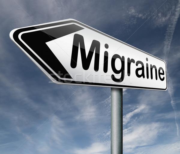 Migrena głowy ból głowie diagnoza terapii Zdjęcia stock © kikkerdirk