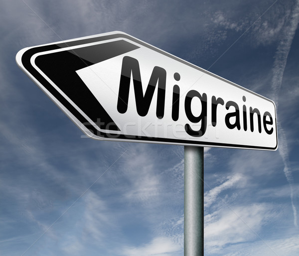 Migräne Kopfschmerzen Schmerzen Kopf Diagnose Therapie Stock foto © kikkerdirk