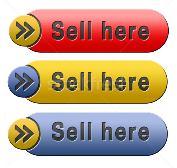 Elad itt termékek online internet webshop Stock fotó © kikkerdirk