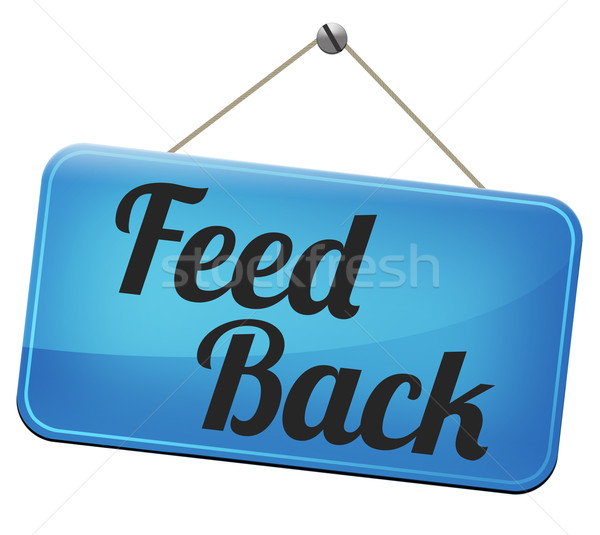 Stock photo: feedback