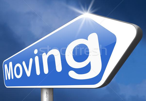miving sign Stock photo © kikkerdirk