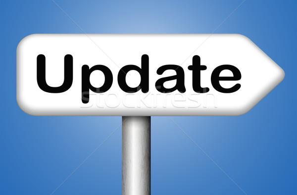 Atualizar assinar software agora aqui versão Foto stock © kikkerdirk