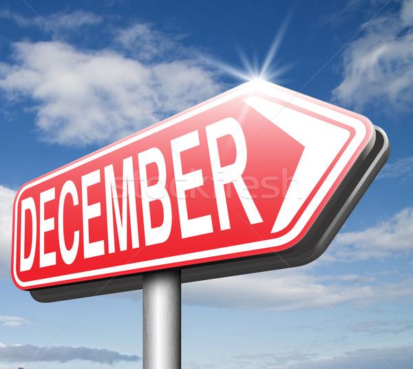 декабрь последний месяц год зимний сезон события Сток-фото © kikkerdirk