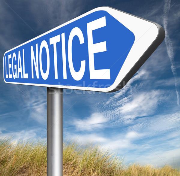 Juridische teken web recht helpen Stockfoto © kikkerdirk