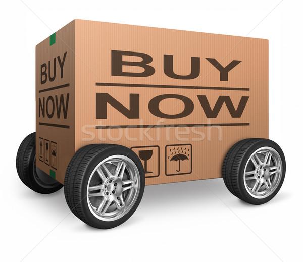 Web winkel icon om online Stockfoto © kikkerdirk