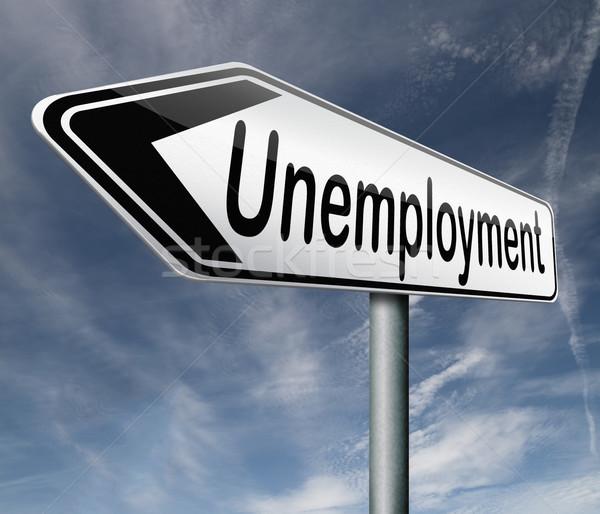 Chômage taux détacher Emploi perte affaires Photo stock © kikkerdirk