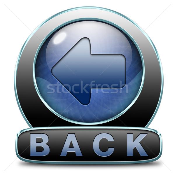 Hát ikon korábbi visszatérés gomb Stock fotó © kikkerdirk