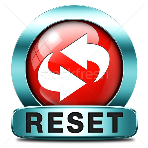 reset icon Stock photo © kikkerdirk