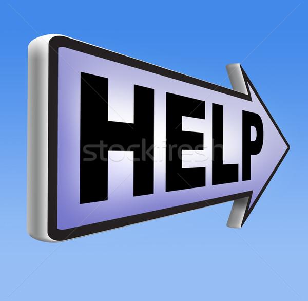 Yardım aranan gerek destek bulmak çözüm Stok fotoğraf © kikkerdirk