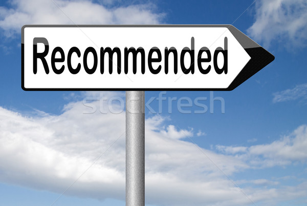 Stockfoto: Top · kwaliteit · product · aanbeveling · teken