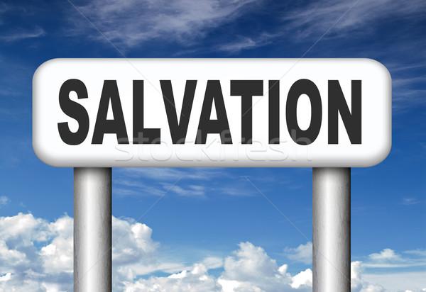 Megváltás mentés lélek imádkozik Jézus Isten Stock fotó © kikkerdirk