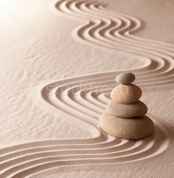 Zen meditação jardim harmonia saúde Foto stock © kikkerdirk