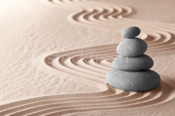 Stock photo: zen meditation garden