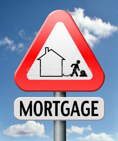 Casa empréstimo hipoteca dinheiro de volta Foto stock © kikkerdirk