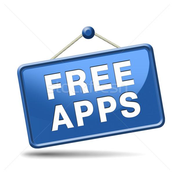 свободный приложения скачать icon бесплатно приложение кнопки Сток-фото © kikkerdirk