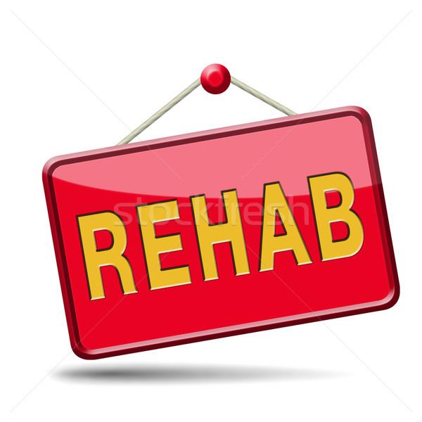 Rehabilitasyon rehabilitasyon ilaçlar alkol spor kaza Stok fotoğraf © kikkerdirk