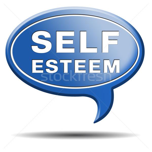 Autostima rispetto fiducia orgoglio psicologia segno Foto d'archivio © kikkerdirk