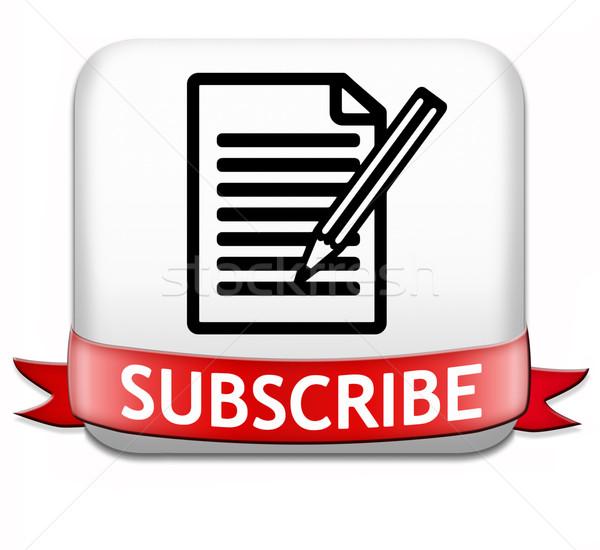 Knop hier online gratis abonnement lidmaatschap Stockfoto © kikkerdirk